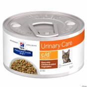 Hill's PD Feline C/D Chicken and Vegetable Stew 82g