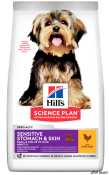 HILL'S SCIENCE PLAN Sensitive Stomach & Skin Small & Mini Pui 3kg