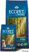 Ecopet Natural Adult Fish Mini 12Kg
