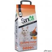 Nisip SaniCat Clumping Orange 5L