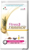 Trainer Fitness3 Dog Puppy and Junior Mini Duck and Rice 7,5 kg