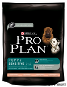 Purina Pro Plan Puppy Sensitive (somon si orez)  800 g