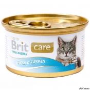 Brit Care Cat Ton şi Curcan 80g