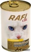 RAFI CAT- Carne de somon (cuburi) in sos 415g