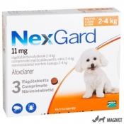 Nexgard Small (2-4kg) - 3 comprimate