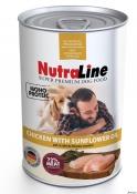 Nutraline Dog Conserva Adult Monoprotein Pui/Ulei de Floarea-Soarelui 400g