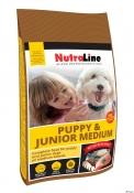 Nutraline Dog Puppy&Junior Mediu 3kg