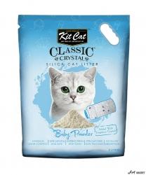 Kit Cat Classic Crystal Baby Powder 5L  + cadou plic Piper Pisica