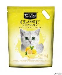 Kit Cat Classic Crystal Lemon 5L  + cadou plic Piper Pisica