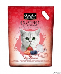 Kit Cat Classic Crystal Mix Berries 5L  + cadou plic Piper Pisica