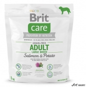 Brit Care Grain-Free Adult Large Breed Somon si Cartofi 1kg