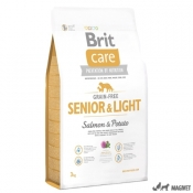 Brit Care Senior si Light cu Somon si Cartof 3Kg