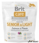 Brit Care Grain-free Senior Somon si Cartofi 1Kg