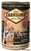 Carnilove Wild Meat Puppies Somon si Curcan 400 g