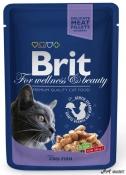 Brit Cat Plic Carne de Cod 100g