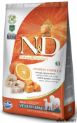 N&D Grain Free Adult Medium si Maxi Cod Portocala si Dovleac 12kg
