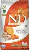 N&D Grain Free Adult Mini Peste Portocale si Dovleac 7kg
