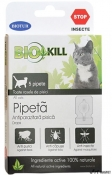 BioKill Pipeta Antiparazitara Pisica 5 Pipete