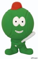 Jucarie mingie baseball din latex 12x8x7cm verde