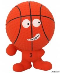 Jucarie minge de baschet din latex, 8cm