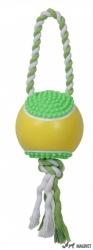 Jucarie minge din vinil cu sfoara 35x7cm